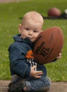 Baby with Football by GaborfromHungary