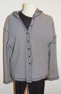 Striped hoodie front (short)