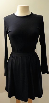 Black cotton skirt, Old Navy, 4.99/2.49